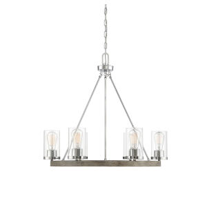 Lex Greywood Chrome Five-Light Chandelier