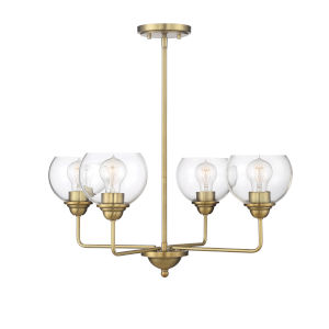 Irving Natural Brass Four-Light Chandelier