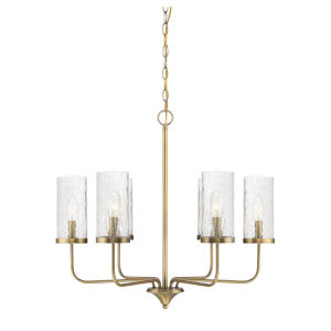 Ava Natural Brass Five-Light Chandelier
