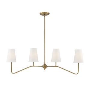 Lyndale Natural Brass Four-Light Chandelier