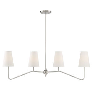 Lyndale Brushed Nickel Four-Light Chandelier