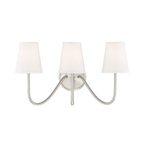 Lyndale Brushed Nickel Three-Light Wall Sconce