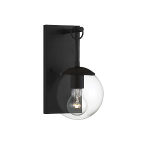 Artemis Black Six-Inch One-Light Outdoor Wall Sconce