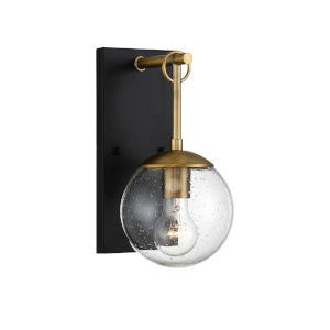Artemis Oil Rubbed Bronze and Brass Six-Inch One-Light Outdoor Wall Sconce
