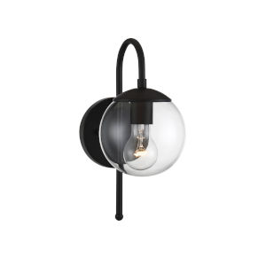Artemis Matte Black One-Light Outdoor Wall Sconce