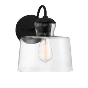 Ava Matte Black One-Light Outdoor Wall Sconce