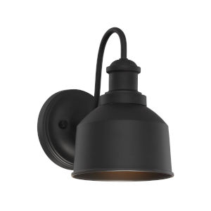 Lex Matte Black Six-Inch One-Light Outdoor Wall Sconce