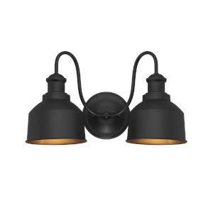 Lex Matte Black Two-Light Outdoor Wall Sconce