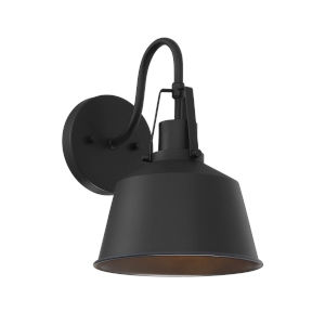 Lex Matte Black Eight-Inch One-Light Outdoor Wall Sconce