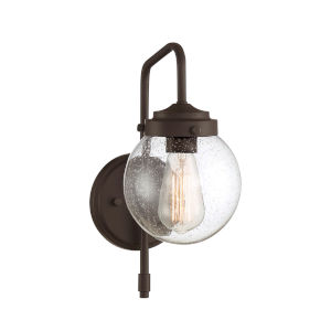 Loring Oil Rubbed Bronze Six-Inch One-Light Outdoor Wall Sconce