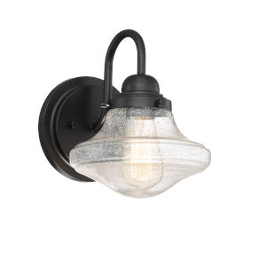 Loring Matte Black One-Light Outdoor Wall Sconce