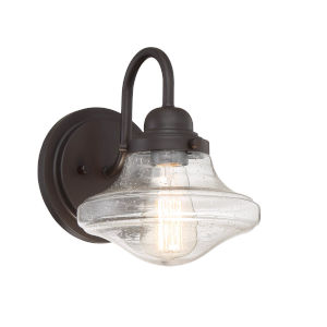 Loring Oil Rubbed Bronze Eight-Inch One-Light Outdoor Wall Sconce