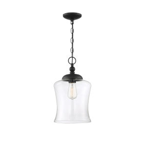 Nora Matte Black One-Light Mini Pendant
