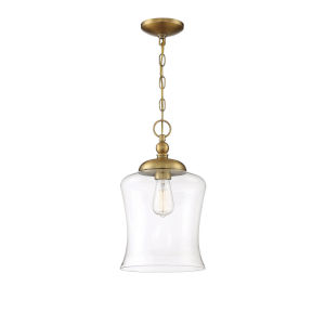 Nora Natural Brass One-Light Mini Pendant