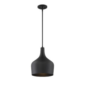 Uptown Matte Black One-Light Pendant