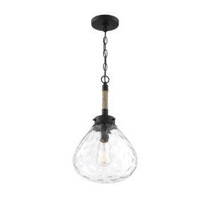 Finn Matte Black One-Light Pendant