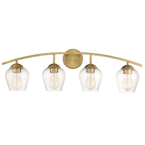 Madison Natural Brass Four-Light Bath Vanity