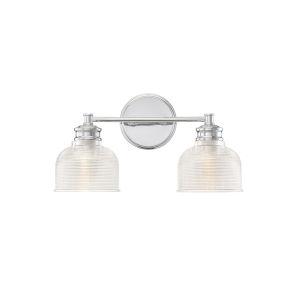 Eloise Chrome Two-Light Bath Vanity