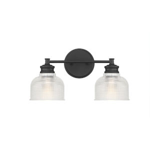 Eloise Matte Black Two-Light Bath Vanity