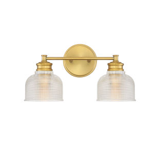 Eloise Natural Brass Two-Light Bath Vanity
