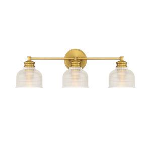 Eloise Natural Brass Three-Light Bath Vanity