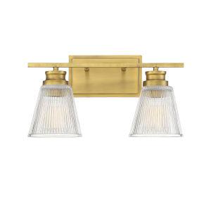 Nora Natural Brass Two-Light Bath Vanity