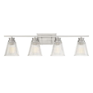 Nora Brushed Nickel Four-Light Bath Vanity