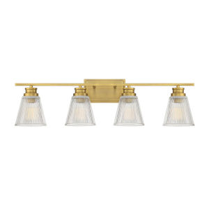 Nora Natural Brass Four-Light Bath Vanity