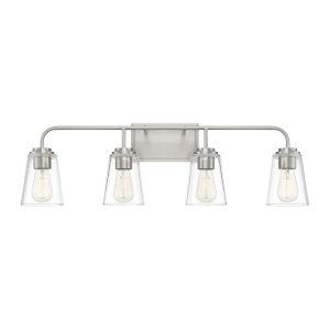 Loring Brushed Nickel Four-Light Bath Vanity