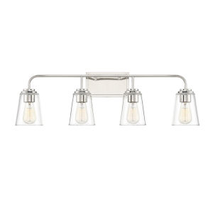 Loring Polished Nickel Four-Light Bath Vanity