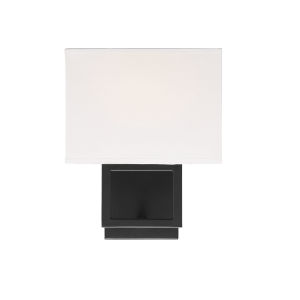 Uptown Matte Black One-Light Wall Sconce