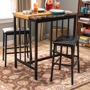 Linden Brown Three-Piece Dining Set