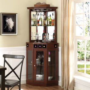 Evelyn Mahogany 24-Inch Corner Bar Unit