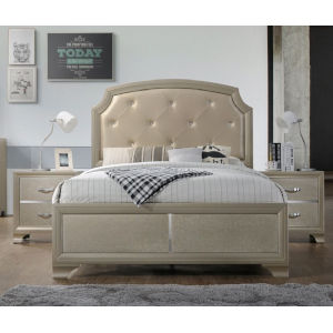 Monroe Champagne Queen Bed