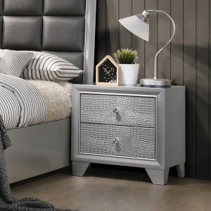 Grace Silver Nightstand