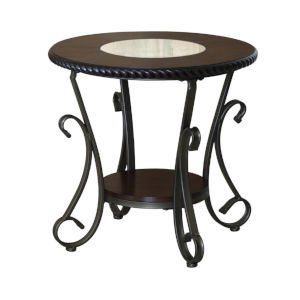 Whittier Black End Table, Set of Two