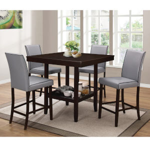 Linden Espresso Five-Piece Dining Set