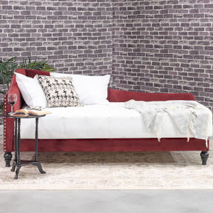 Vivian Burgundy 41-Inch Day Bed