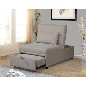 Selby Beige 33-Inch Convertible Chair