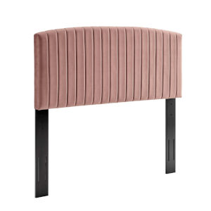 Cooper Dusty Rose Performance Velvet Full and Queen Headboard