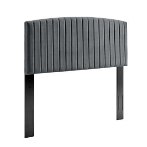 Cooper Charcoal Performance Velvet King and California King Headboard