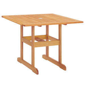 Darren Natural 36-Inch Square Outdoor Patio Eucalyptus Wood Dining Table