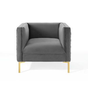 Cooper Charcoal Performance Velvet Armchair