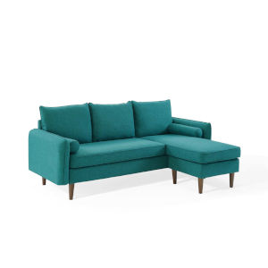 Uptown Teal Upholstered Right or Left Sectional Sofa