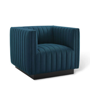Cooper Azure Tufted Upholstered Fabric Armchair