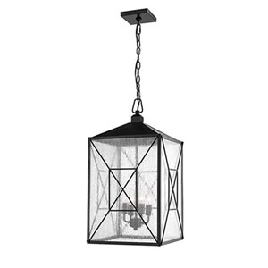Jackson Black 14-Inch Four-Light Outdoor Pendant