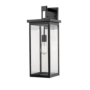 Castor Black Eight-Inch One-Light Outdoor Wall Sconce