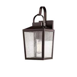 Elle Bronze Seven-Inch One-Light Outdoor Wall Sconce