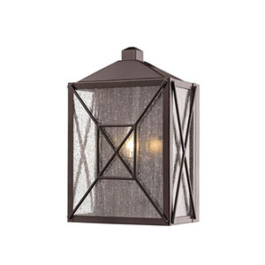 Jackson Bronze Five-Inch One-Light Outdoor Wall Sconce