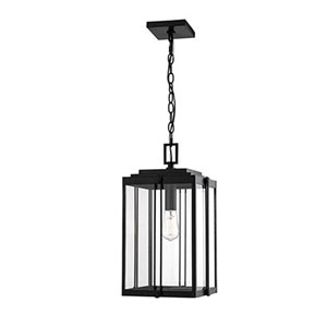 Cora Black 11-Inch One-Light Outdoor Pendant